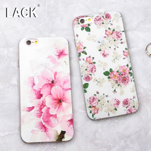 LACK Luxury 3D Relief Floral Painted Case iphone 7 Beauty Flower Leaf Cover Soft TPU Phone Cases iphone7 6 6S Plus - Official Store store
