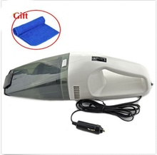 Brand New 60W Super Suction Mini 12V High-Power Wet and Dry Portable Handheld Car Vacuum Cleaner Beige Color