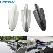 LEEWA Car 3in1 Shark F connector 3.5 TRS IEC Booster TV Antenna/Decoration Anteena White,silver,black #CA888(China)