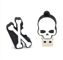 Usb Stick USB flash drive Cranial skeleton head  4GB-64GB USB Flash 2.0 Memory Drive Stick   S162pendrive