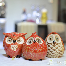 stylish modern style lovely animal owl ornaments ceramic crafts living room decoration ideas birthday gift
