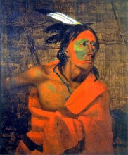 Unframed Canvas Prints - Winnebago (Wa-kon-chi-hi-re-ga) In A Bark Lodge - By Charles Deas