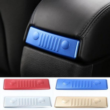 Newest Armrest Storage Arm Rest Box Back Trim Decoration Aluminum For Jeep Renegade Free Shipping