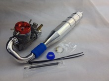 RC Nitro Marine Boat GO28 Engine 5.1CC w/o Pull Start +Side Mainfold Tuned Pipe (Engine+Pipe for sale)(China)