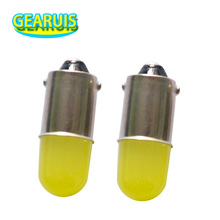 10pcs Heat durable T11 363 BA9S COB 30MA Round 3D Led  T4W 1 SMD Car License Plate Light Bulb Door Lamp White 12V