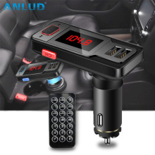 Hands Free Wireless Bluetooth Car Kit FM Transmitter Modulator LCD Screen MP3 Player TF Card USB Car Accessories Phone Charger(China)