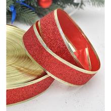 Easter glitter gift packing belt wedding party Christmas embellishment ribbon sewing accessories Golden Siliver Red New Year