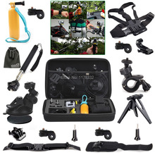 10ni 1 Outdoor Sports Accessories Kit + Helmet Strap Mount + Chest Belt Strap Mount for Action Cam HDR-AS20/AS30V/AS100V