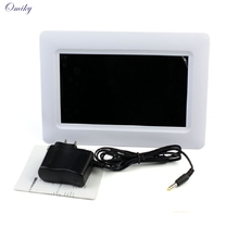"Adroit Brand New White Color 7"" TFT LCD Digital Photo Frame With Alarm Support U SD MMC MS USB 30S61122 drop shipping"