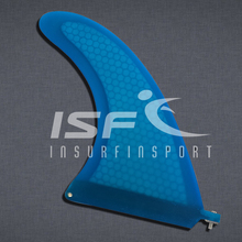 "Longboard Fins/Surfboard Fins/Paddle Board fins/8"" Blue Fiberglass Center Fin(China)"