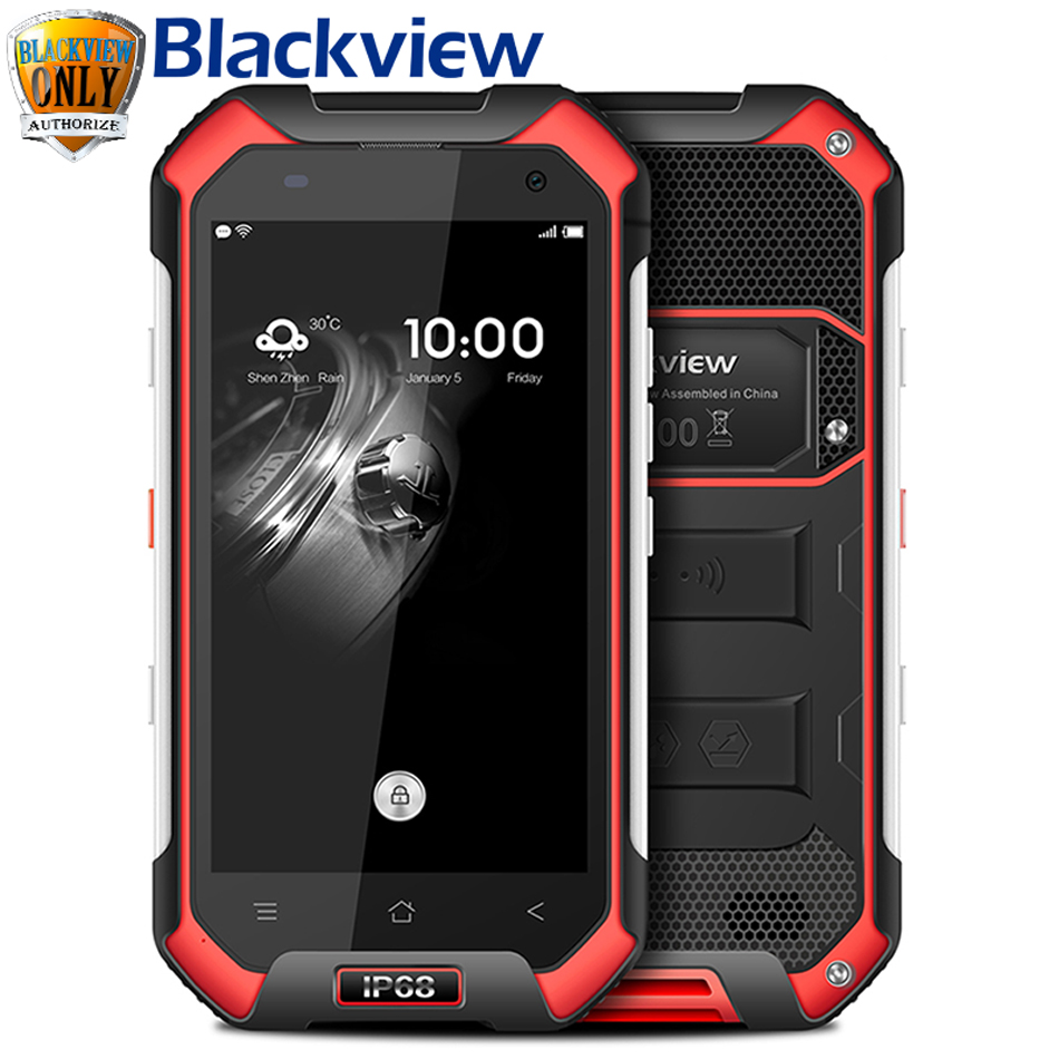 IP68 WaterProof Blackview BV6000 Mobile Phone 4G LTE Android 6.0 MTK6755 Octa Core 2.0Ghz 3GB RAM 32GB ROM 13MP GPS Glonass Navi(China)