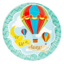 8pcs 7inch Hot-air Balloon Theme Paper Plates Birthday Wedding Party Supplies Decoration Cake Dish Disposable Baby Shower Favors(China)