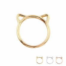 Wholesale 10pcs/Lot Fashion Accessories Jewellery Rings Lovely Kitty Cats Ear Rings for Women Wedding and Party Gifts Size 6.5