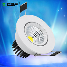 [DBF]Super Bright Epistar COB LED Recessed Downlight Not Dimmable 5W Warm White/Natural White/Cold White LED Ceiling Spot Light AC220V(China)