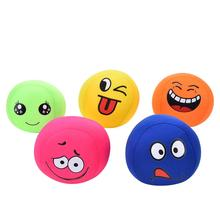 Random Color 1 Pc Cute Grasping Balls Soft EVA Smile Face Expression Sandbags Kids Babies Children Toys Ball Best Gifts(China)