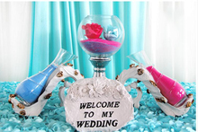 Free shopping New decorations quicksand tower/Champagne tower /Wish sand/Wedding Wishing props.Wedding decoration props