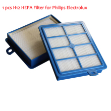 1 pc Replacement H12 HEPA Filter for Philips Electrolux EFH12W AEF12W FC8031 EL012W hepa h13 Filters vacuum cleaner parts