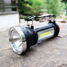 8000Lm Powerful LED Waterproof Solar DC Rechargeable Tactical Flashlight Camping Torch Flash Lamp Fishing Light