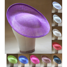 30*30cm Round Saucer DIY Sinamay Hat Base Inspired Percher Hat fascinator millinery Base B056(China)