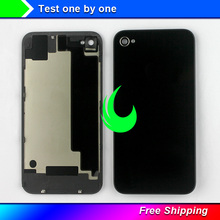 Back Cover For iPhone 4/4S Back Battery Housing Cover Door Rear Panel Plate Glass Case 4G For Apple iPhone 4S Housing Free Track(China)