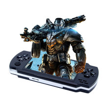 Game Console Free thousands games 4.3 inch big screen handheld game console Street Fighers portable game player for GBA NES(China)