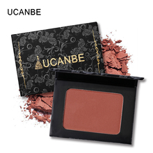 UCANBE Brand 5 Style Single Mineral Blush Makeup Palette Face Cheek Nude Natural Pressed Powder Blusher Long Lasting Cosmetics(China)
