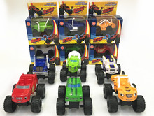 6pcs/lot Blaze Machines Sliding Vehicle Cars Transformation Toys Gifts For Kids(China)