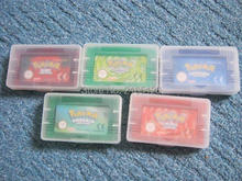 USA shiny EU plain labels chip board saving pokemon GBA game bundle 5pcs/lot emerald, ruby, sapphire, leafgreen, fire red(China)