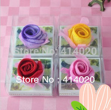 100% Percent cotton  Compressed Gift  Rose  Towel ,Reusable  Multi-function towel, 20*20CM  Cake Towel wholesale