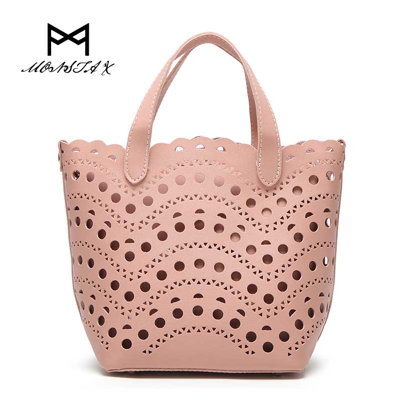 MONSTA X Designer openwork  Women Handbags Pearl Diamonds Messenger Bag High Quality 2017 Fashion Chains Shoulder Bag  <br>