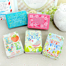 10pcs/lot Wholesale New Products Bussiness Card Magnetic Card Tin Case Candy Coin Box