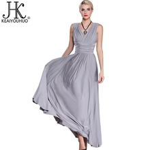 KEAIYOUHUO Famous Brands Summer Women Dress 2017 Evening High Quality Elegant Dresses For Women Maxi Dress Vintage Plus Size 6XL(China)