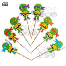 24pcs Cartoon Cute Teenage Mutant Ninja Turtles Party Cake Decoration Cupcake Toppers Kids Birthday Party Supplies