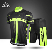 INBIKE summer Gel pad specialized team cycling jersey set short sleeve mtb road   mountain bike cycling clothing men