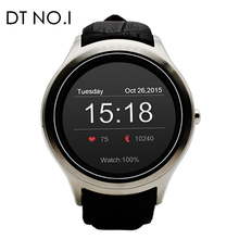 NO.1 D5+ Android Smart watch MTK6580 1GB RAM 8GB ROM support 3G GPS WiFi Heart rate track Smartwatch phone pk x5 plus lem5(China)