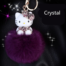 CXZYKING Lovely Hello Kitty Pendant Figurines Toys Model Japanese Anime Keychain Children Action Figure Toys