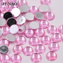 15mm Light Pink Color Crystal Flat Back Rhinestone Acrylic Crystal Stones Glue On Strass Cat Eye Beads For Garment Decoration(China)