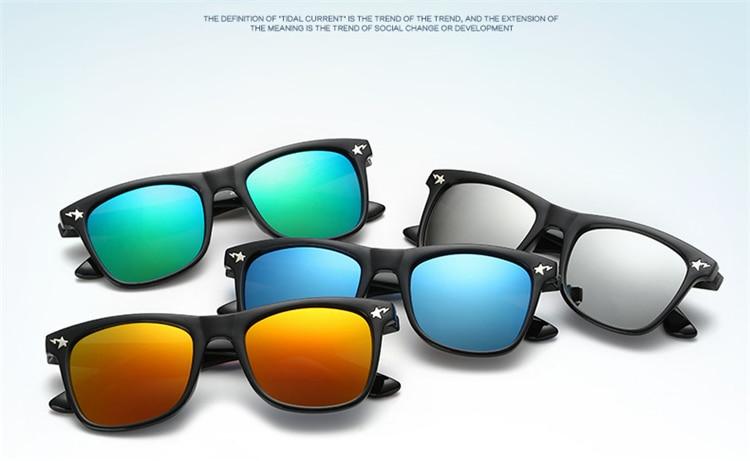 Fashion Kids Sunglasses lovely Sunglasses Mosaic Boys Girls Pixel Eyewares With Case Children Gift (9)