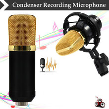 LEIHAO BM-700/ BM-800 Dynamic Condenser Sound Recording Microphone with Shock Mount for Radio Braodcasting KTV Karaoke