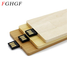 FGHGF LOGO customized Bamboo Wood Redwood logo engrave pendrive 4GB 8GB 16G 32GB wooden card model usb flash drive memory stick(China)