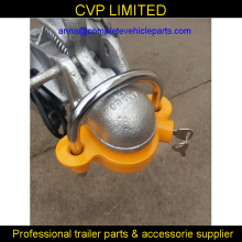 trailer lock, trailer coupling lock, anti theft trailer lock,tow ball coupling yellow hitch lock