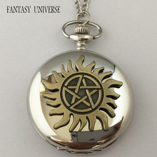 FANTASY UNIVERSE Freeshipping wholesale 20pc Supernatural Dean pocket watch necklace KFFCF06