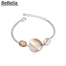 BeBella twist charm bracelet made with genuine Austrian crystals from Swarovski for women girls gift 2017 new fashion
