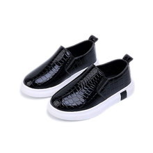 MSMAX Children Shoes Unisex Slip On Breathable Suitable Pu Leather Shoes Boys Girls School Casual Sports Sneakers Glowing Shoes