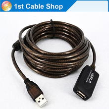 33ft 10M USB 2.0 active extension cable with IC USB 2.0 A male to A female Shielded(China)