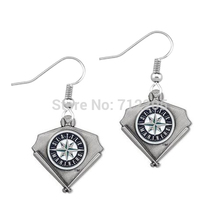 fashion 50pair a lot enamel single-sided  Seattle Mariners  Baseball sports earring