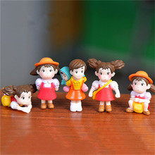New 5pcs/lot  Action Figure Hayao Miyazaki XIAOMEI Film Miniature Figurines PVC Japanese Cute Anime Kids Christmas Gift