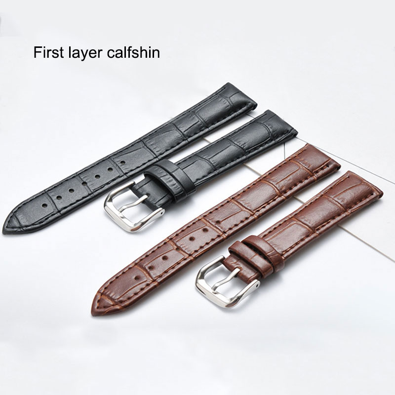 UTHAI Z08 plus Watch Band Genuine Leather Straps 10-24mm 16/18/20/22/24mm Watch Accessories High Quality Brown Colors Watchbands