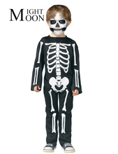 MOONIGHT Halloween Full Body Gollum Zombie Cosplay Costumes Kids Halloween Skeleton Ghost Costume Cosplay Show Performance