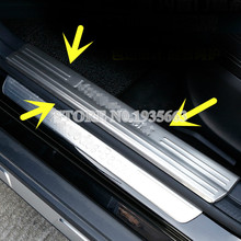 Stainless Inside Door Sill Scuff Plate 4pcs For Benz A-Class W176  GLA X156  CLA C117 W117